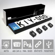 KIYO D Ultimate 4: rendszámtábla keretes aktív lézeres jelzőkészülék 4 szenzorral
