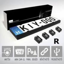 KIYO D Ultimate 4R: rendszámtábla keretes aktív lézeres jelzőkészülék 4 szenzorral