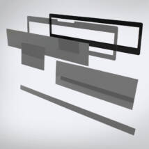 Speciális perspex rendszámtábla tartókeret (alsó szereléshez)