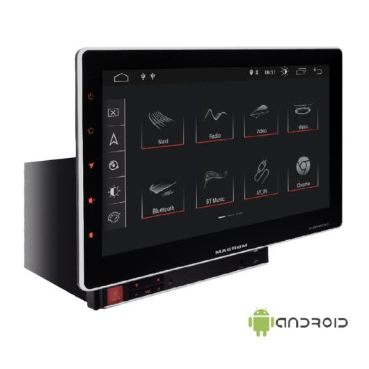Macrom - M-AN1000DVD, Android multimédia monitor DVD lejátszóval