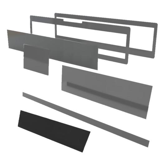 Speciális perspex lap egyedi méretben (504x47)