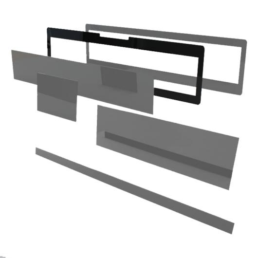 Speciális perspex rendszámtábla takarókeret (felső szereléshez)