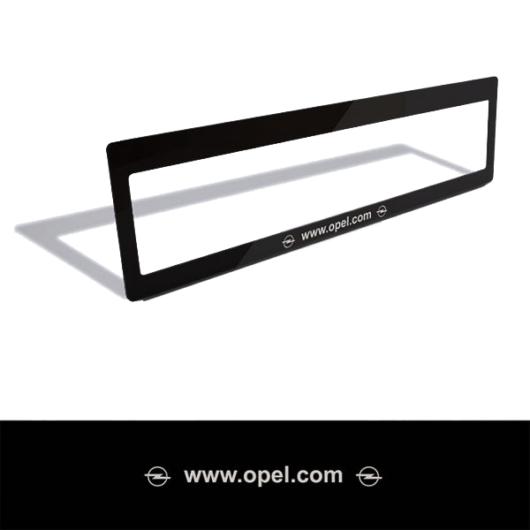 Rendszámtábla matrica (Opel)