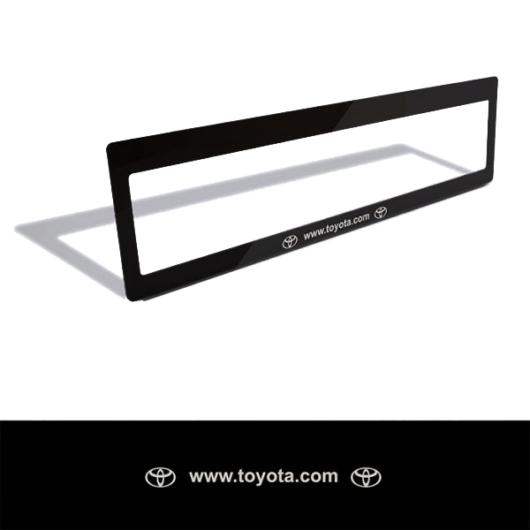 Rendszámtábla matrica (Toyota)