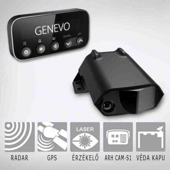 GENEVO PRO HD+ szett: beépíthető radar- és lézerdetektor GPS adatbázissal