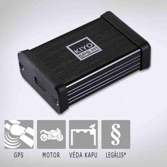 KIYO GPS M1 telepített traffipax előrejelző motorokhoz