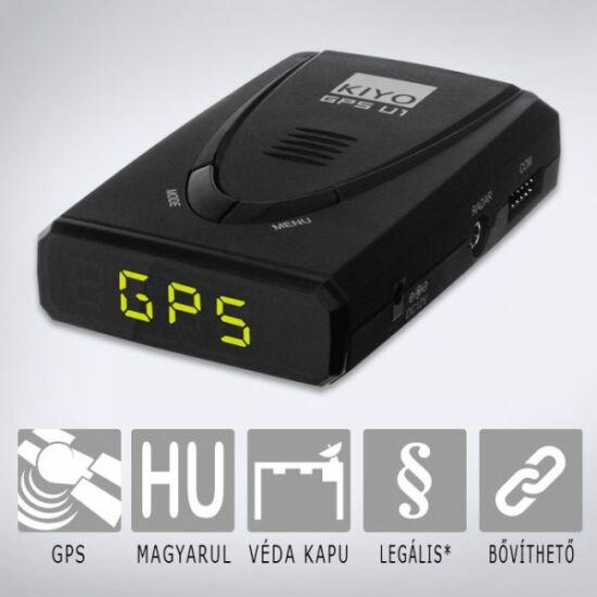 KIYO GPS U1 telepített traffipax előrejelző