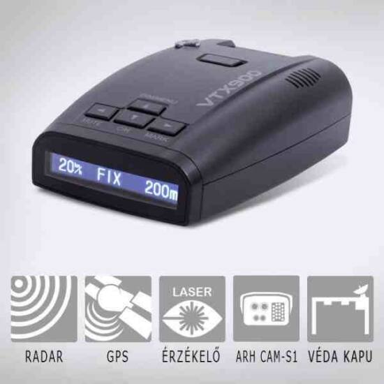 KIYO VTX900GPS radardetektor GPS adatbázissal