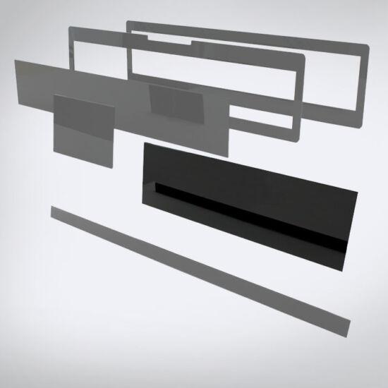 Speciális perspex lap egyedi méretben (550x160)