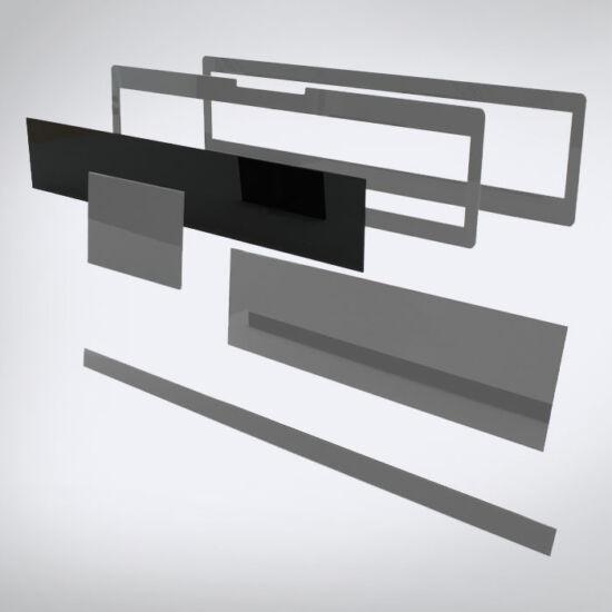 Speciális perspex lap egyedi méretben (505x95)