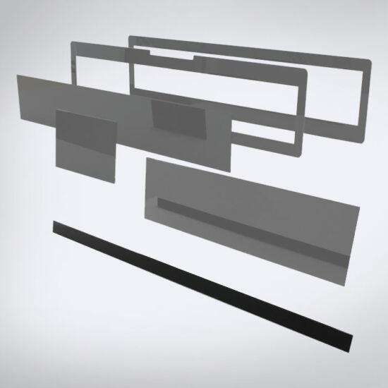 Speciális perspex lap egyedi méretben (765x30)