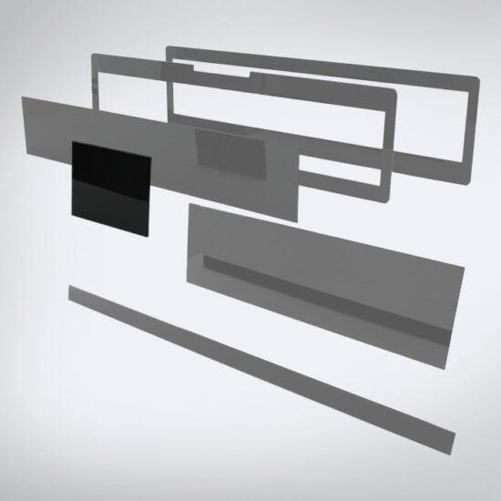 Speciális perspex lap egyedi méretben (125x95)